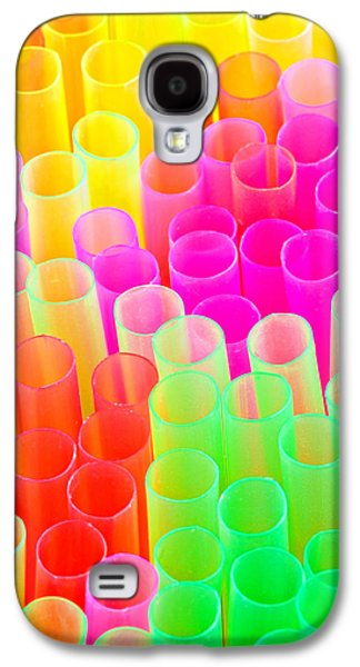 Brightly Galaxy S4 Cases - Abstract Drinking Straws #2 Galaxy S4 Case by Meirion Matthias