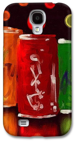 Abstract Digital Paintings Galaxy S4 Cases - Abstract drinks Galaxy S4 Case by Veronica Minozzi