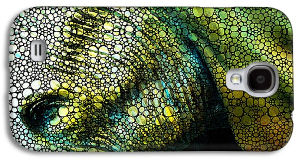 Abstract Elephant - Colorful Stone Rock'd Art By Sharon Cummings Galaxy S4 Case by Sharon Cummings