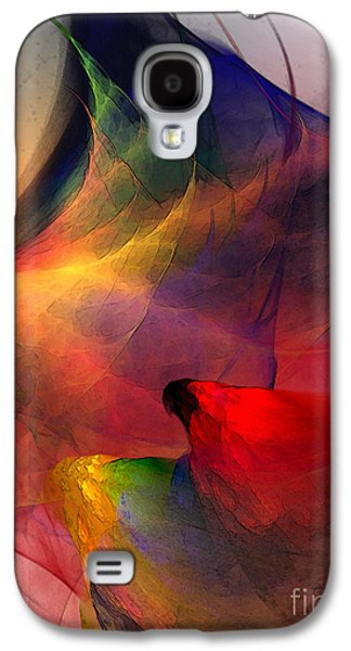 Modern Abstract Digital Art Galaxy S4 Cases - Abstract Exotic Birds Galaxy S4 Case by Karin Kuhlmann