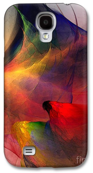 Modern Abstract Galaxy S4 Cases - Abstract Exotic Birds Galaxy S4 Case by Karin Kuhlmann
