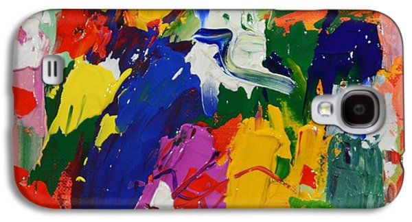 Receive Paintings Galaxy S4 Cases - When Ye Pray Believe that Ye Receive Them - Mark 11 24 - Abstract Expressionist Painting  Galaxy S4 Case by Philip Jones