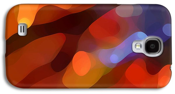 Colorful Abstract Digital Galaxy S4 Cases - Abstract Fall Light Galaxy S4 Case by Amy Vangsgard