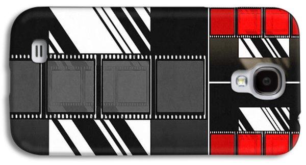 Sunset Abstract Mixed Media Galaxy S4 Cases - Abstract Film Galaxy S4 Case by Georgiana Romanovna