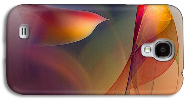 Contemplative Digital Galaxy S4 Cases - Abstract Fine Art Print Early in the Morning Galaxy S4 Case by Karin Kuhlmann