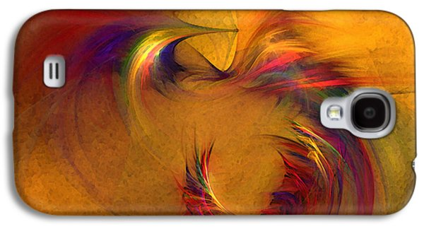 Modern Abstract Galaxy S4 Cases - Abstract Fine Art Print High Spirits Galaxy S4 Case by Karin Kuhlmann