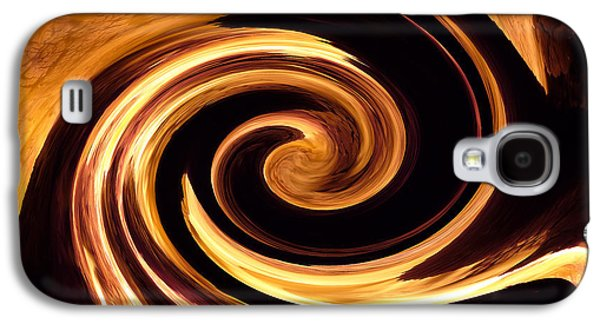 Abstracted Galaxy S4 Cases - Abstract - Fire - Two Galaxy S4 Case by Kathy K McClellan