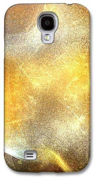 Colorful Abstract Digital Galaxy S4 Cases - Abstract fire Galaxy S4 Case by Veronica Minozzi