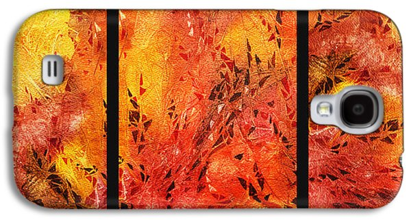 Abstract Movement Galaxy S4 Cases - Abstract Fireplace Galaxy S4 Case by Irina Sztukowski