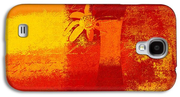 Abstract Realism Galaxy S4 Cases - Abstract Floral - 6at01a Galaxy S4 Case by Variance Collections