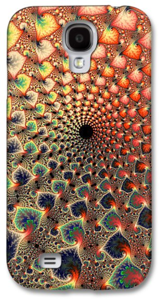 Abstract Digital Digital Galaxy S4 Cases - Abstract floral fractal art tall and narrow Galaxy S4 Case by Matthias Hauser