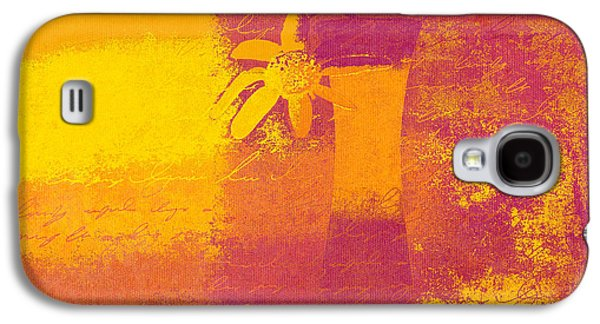 Orange Digital Art Galaxy S4 Cases - Abstract Floral - m31at1b Galaxy S4 Case by Variance Collections
