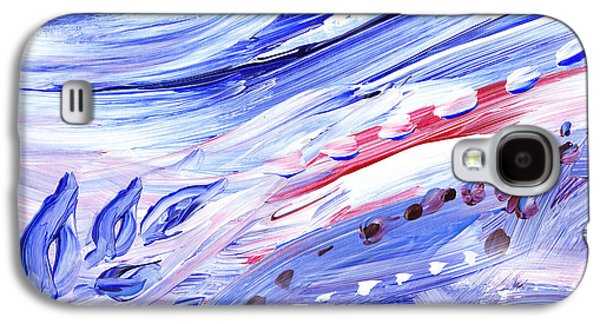 Inspired Paintings Galaxy S4 Cases - Abstract Floral Marble Waves Galaxy S4 Case by Irina Sztukowski
