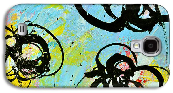 """square Art"" Drawings Galaxy S4 Cases - Abstract Flowers Silhouette 4 Galaxy S4 Case by Patricia Awapara"