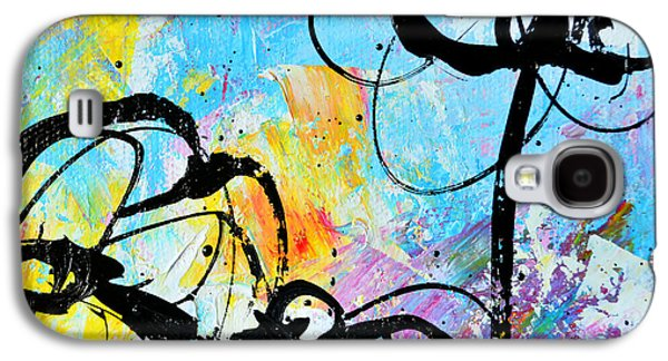 """square Art"" Drawings Galaxy S4 Cases - Abstract Flowers Silhouette 6 Galaxy S4 Case by Patricia Awapara"