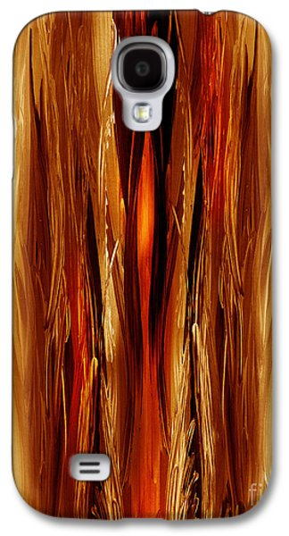 Inspired Paintings Galaxy S4 Cases - Abstract Forest Hidden Secrets Galaxy S4 Case by Irina Sztukowski
