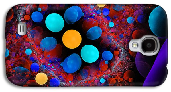 Abstract Digital Art Galaxy S4 Cases - Abstract Fractal Art Red Blue Digital Image Modern Art Galaxy S4 Case by Keith Webber Jr