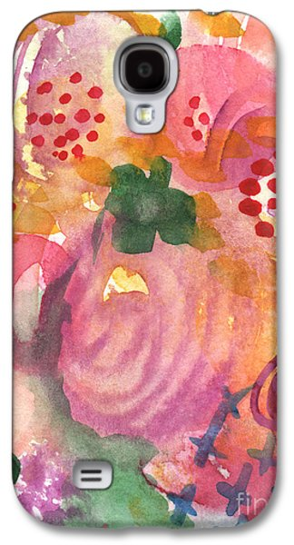 Abstract Landscape Galaxy S4 Cases - Abstract Garden #44 Galaxy S4 Case by Linda Woods