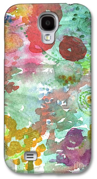 Studio Mixed Media Galaxy S4 Cases - Abstract Garden Galaxy S4 Case by Linda Woods