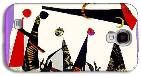 People Tapestries - Textiles Galaxy S4 Cases - Abstract Gathering Galaxy S4 Case by Ruth Yvonne Ash