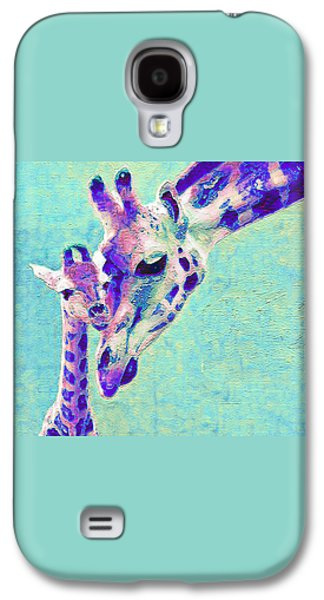 Green Galaxy S4 Cases - Abstract Giraffes Galaxy S4 Case by Jane Schnetlage