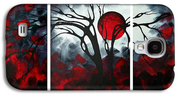 Modern Abstract Galaxy S4 Cases - Abstract Gothic Art Original Landscape Painting IMAGINE by MADART Galaxy S4 Case by Megan Duncanson