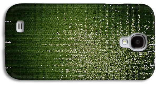 Abstract Digital Tapestries - Textiles Galaxy S4 Cases - Abstract Green Background Galaxy S4 Case by Jozef Jankola
