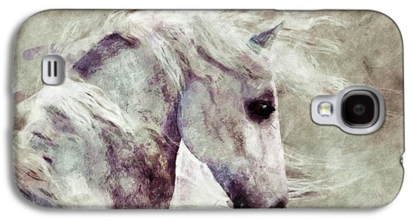 Sepia Chalk Galaxy S4 Cases - Abstract Horse Portrait Galaxy S4 Case by Elle Arden Walby