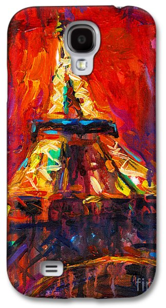 Fun Drawings Galaxy S4 Cases - Abstract Impressionistic Eiffel Tower painting Galaxy S4 Case by Svetlana Novikova