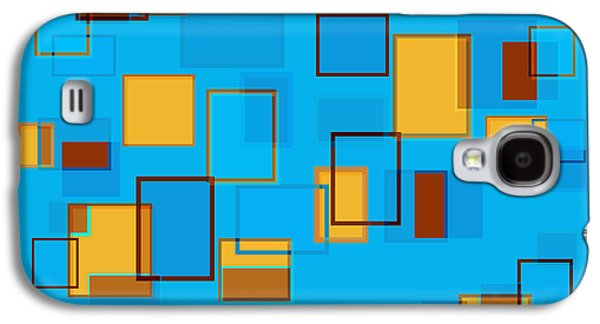 Blue Abstracts Drawings Galaxy S4 Cases - Abstract In Beach Color Scheme Galaxy S4 Case by Frank Tschakert