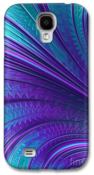 Blue Abstracts Galaxy S4 Cases - Abstract in Blue and Purple Galaxy S4 Case by John Edwards