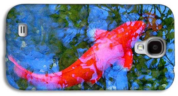 Abstract Landscape Digital Art Galaxy S4 Cases - Abstract Koi 4 Galaxy S4 Case by Amy Vangsgard