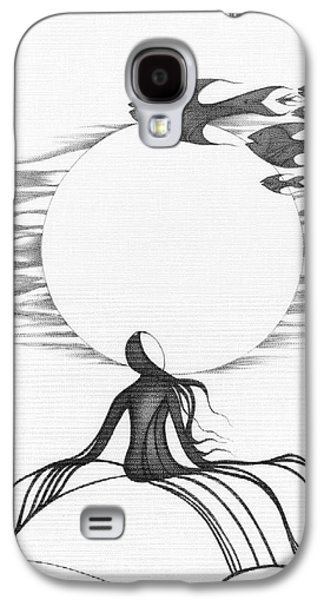 Abstract Landscape Drawings Galaxy S4 Cases - Abstract Landscape Art Black And White Goin South By Romi Galaxy S4 Case by Megan Duncanson
