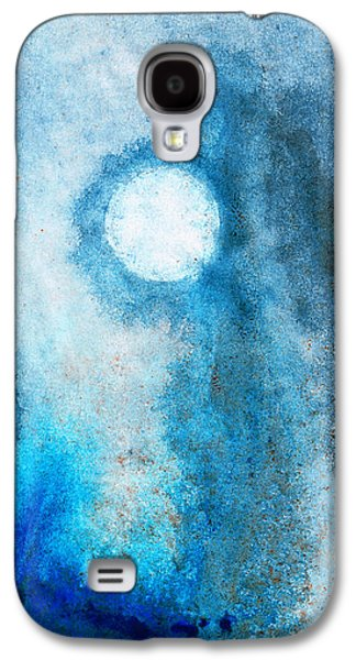 Misty Prints Galaxy S4 Cases - Abstract Landscape Art - Blue Moon - By Sharon Cummings Galaxy S4 Case by Sharon Cummings