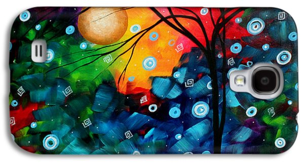 Abstract Landscape Galaxy S4 Cases - Abstract Landscape Colorful Contemporary Painting by Megan Duncanson Brilliance in the Sky Galaxy S4 Case by Megan Duncanson