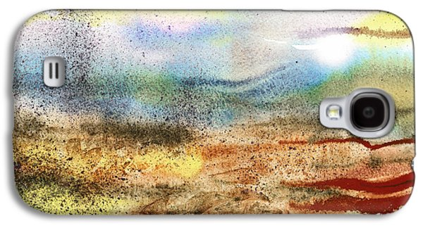 Business Paintings Galaxy S4 Cases - Abstract Landscape Morning Mist Galaxy S4 Case by Irina Sztukowski