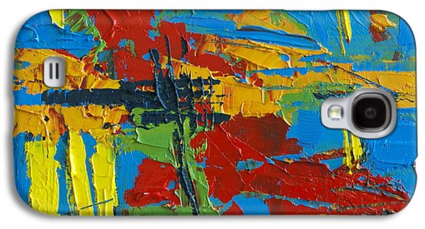 Pallet Knife Galaxy S4 Cases - Abstract Landscape No 1 Galaxy S4 Case by Patricia Awapara