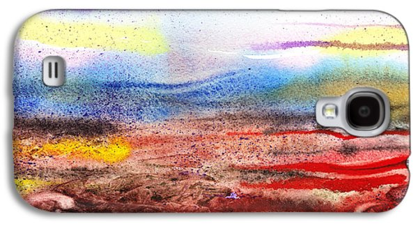 Business Paintings Galaxy S4 Cases - Abstract Landscape Purple Sunrise Early Morning Galaxy S4 Case by Irina Sztukowski