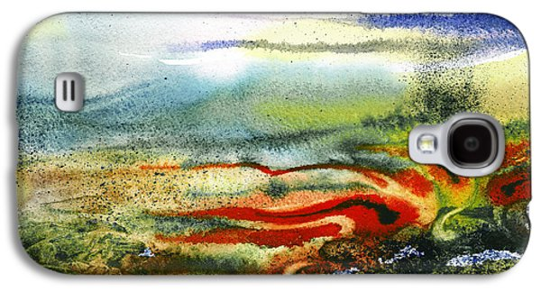 Business Paintings Galaxy S4 Cases - Abstract Landscape Red River Galaxy S4 Case by Irina Sztukowski