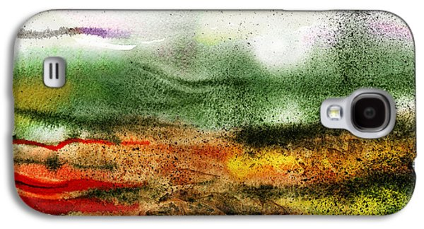 Abstract Landscape Galaxy S4 Cases - Abstract Landscape Sunrise Sunset Galaxy S4 Case by Irina Sztukowski