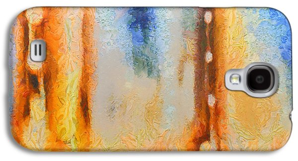 Trippy Paintings Galaxy S4 Cases - Abstract lift off  Galaxy S4 Case by Pixel Chimp