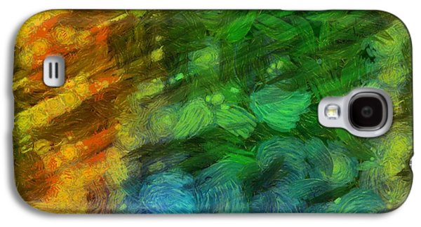 Abstract Digital Photographs Galaxy S4 Cases - Abstract Lines 10 Galaxy S4 Case by Edward Fielding