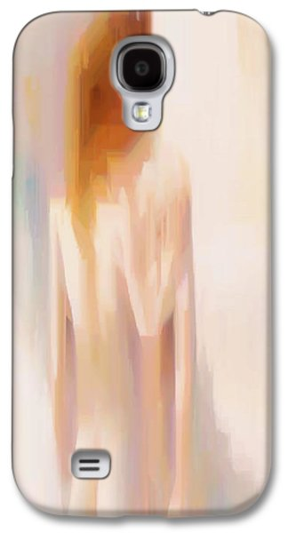 Shower Curtain Galaxy S4 Cases - Abstract Love Couple Galaxy S4 Case by Rafael Salazar