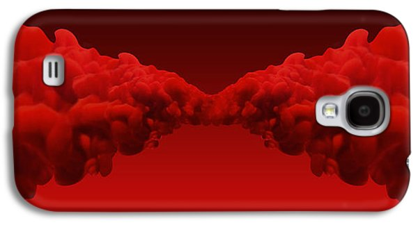 Merging Galaxy S4 Cases - Abstract Merging Red Inks Galaxy S4 Case by Allan Swart