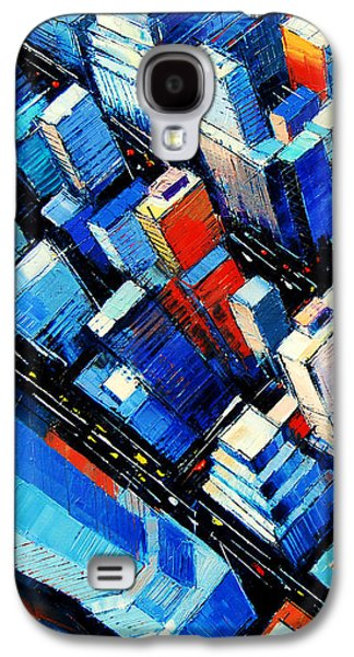 City Streets Galaxy S4 Cases - Abstract New York Sky View Galaxy S4 Case by Mona Edulesco