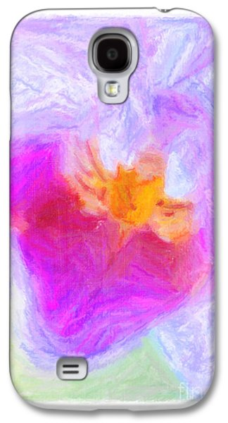 Nature Abstract Pastels Galaxy S4 Cases - Abstract Orchid Pastel Galaxy S4 Case by Antony McAulay