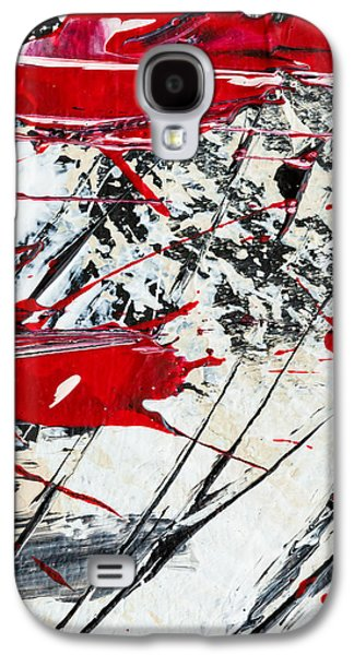 Slash Paintings Galaxy S4 Cases - Abstract Original Painting Untitled Ten Galaxy S4 Case by Maria  Lankina