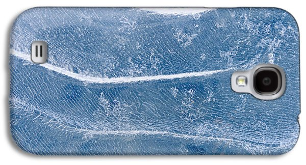 Nature Abstracts Galaxy S4 Cases - Abstract Patterns In The Ice During Galaxy S4 Case by Kevin Smith