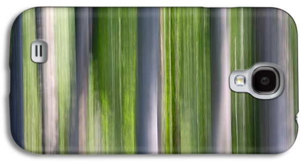 Nature Abstracts Galaxy S4 Cases - Abstract Photo Of Birch Trees, Alaska Galaxy S4 Case by Mark Stadsklev