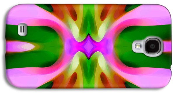 Abstract Forms Galaxy S4 Cases - Abstract Pink Tree Symmetry Galaxy S4 Case by Amy Vangsgard
